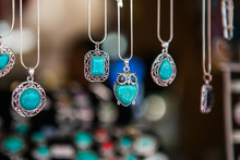 Hand Made Oval Pendants With T...