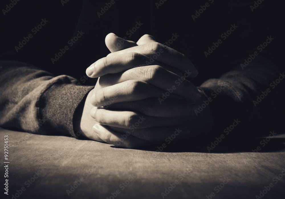 Fototapety, obrazy: Hands Of Praying