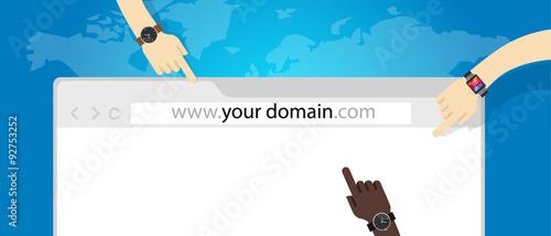 Fotografía domain name web business internet concept url