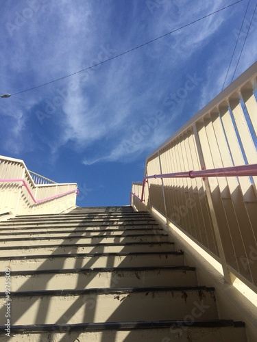 Photo Stands Stairs 歩道橋