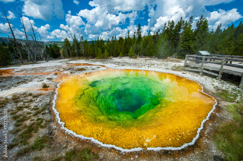 Valokuva  Morning glory pool, Yellowstone