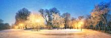 Mariinsky Garden During Inclem...