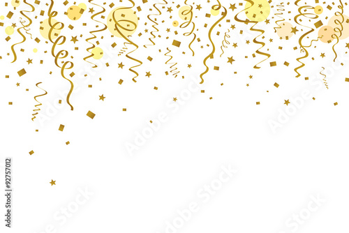 Valokuva  Gold ribbons background