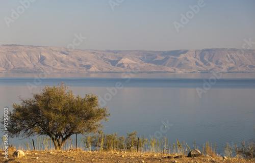 Sea (lake) of Galilee. Lower Galilee. Israel. Fototapeta