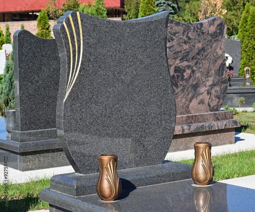 Fotografia, Obraz New tombstones in the public cemetery