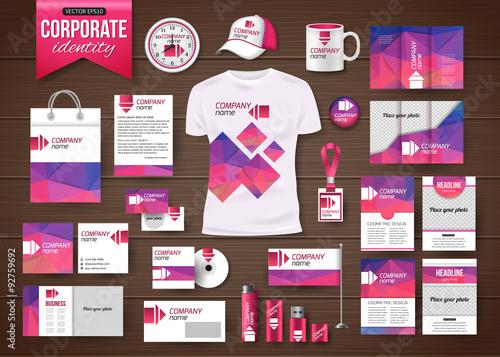 Fotografía  Corporate identity business photorealistic design template over
