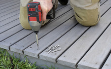 Laying Composite Decking At A Home