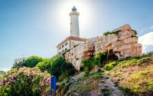 Faro De Botafoch Lighthouse In The Port Of Ibiza Town