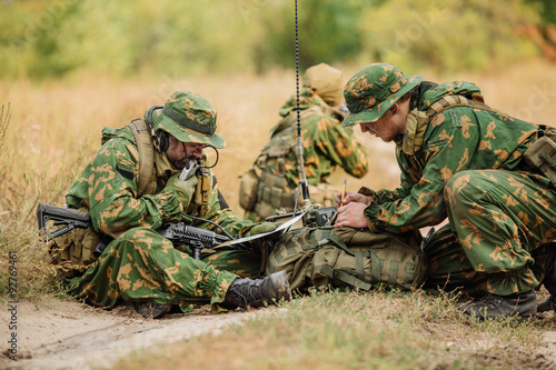 russian paratrooper airborne infantry in the forest Wallpaper Mural
