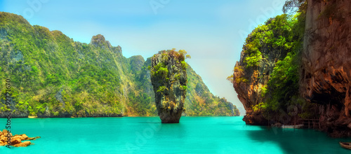In de dag Eiland James Bond island, Thailand