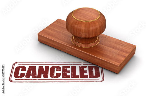 Fotografía  Rubber Stamp Cancelled (clipping path included)