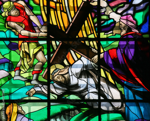Jesus on the Via Dolorosa - Stained Glass © jorisvo