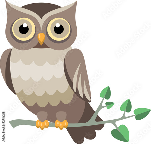 Deurstickers Uilen cartoon decorative vector owl