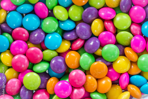 Colorful chocolate candy great for backgrounds