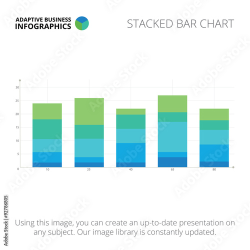Fotografía  Stacked bar chart template