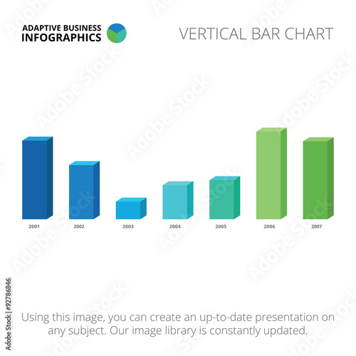 Fotografía  Template of bar chart