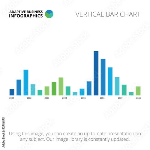 Fotografía  Vertical bar chart template 3