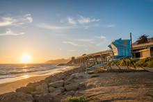 Life-Guard Tower At Ventura State Beach