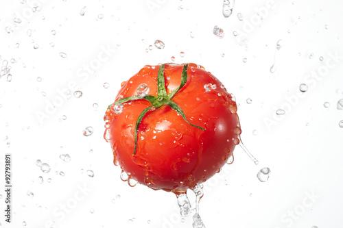 Poster Eclaboussures d eau トマト シズル感