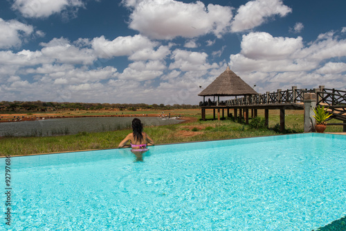 Photo Stands Turquoise Tsavo east National Park, Kenya