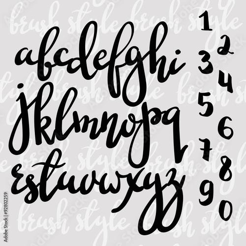 Fotografía  Handwritten brush pen modern calligraphy font