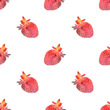 Strawberry. Seamless Pattern With Cosmic Or Galaxy Strawberries