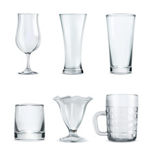 Set Of Transparent Glasses Gob...
