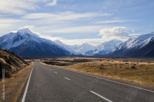 Foto op Canvas Nieuw Zeeland South island road, New Zealand