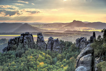 Saxon Switzerland. Elbe River ...