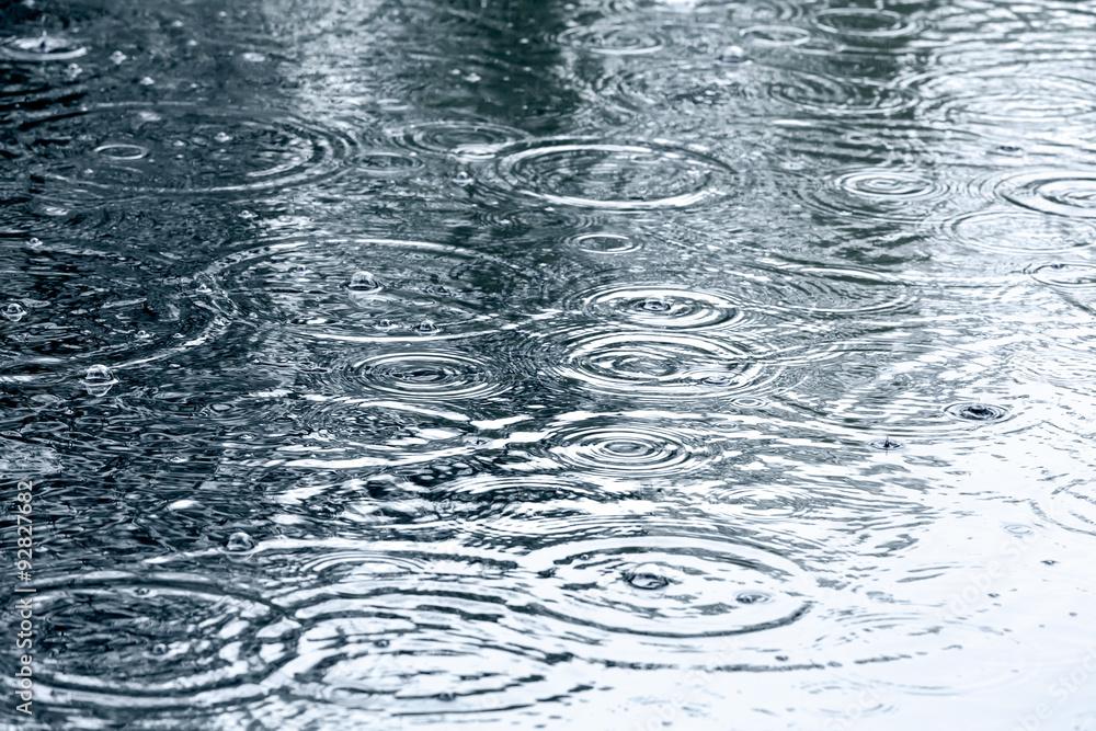 Fototapeta rain drops background