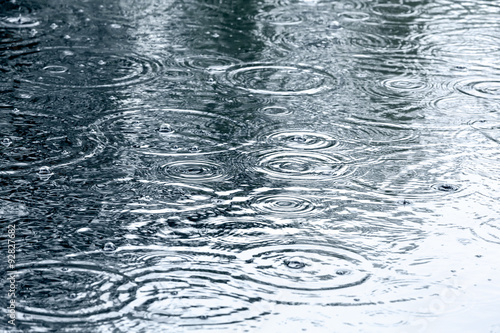 Foto auf Leinwand Wasserfalle rain drops background