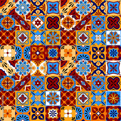 mexican-stylized-talavera-tiles-seamless-pattern-in