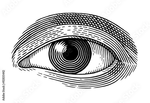 Fotografie, Obraz  human eye