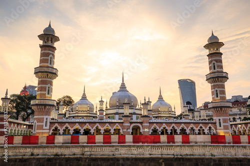 Canvas Prints Kuala Lumpur Historic mosque, Masjid Jamek at Kuala Lumpur, Malaysia