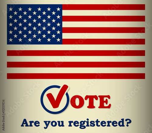 Fotografía  USA 2016 Presidential election - Are you registered? - template