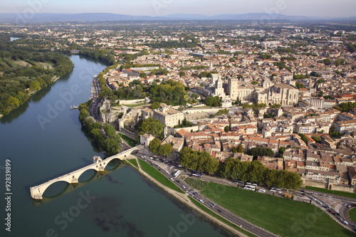 Fotobehang Luchtfoto Pont d'Avignon