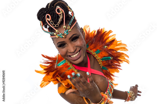 Photo sur Toile Carnaval Female dancer inviting you to dance with her