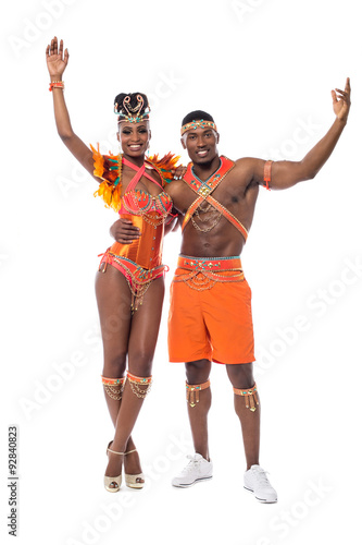 Papiers peints Carnaval Samba dancers posing to the camera