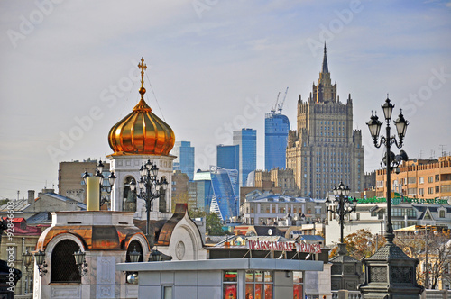 Photo  Moscow roofs, Russia