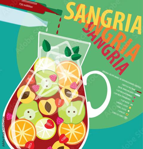 Fotografia Recipe of sangria