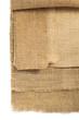 burlap hessian sacking isolated on white