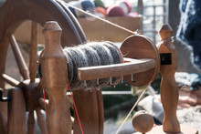 Part Of A Traditional Spinning Wheel