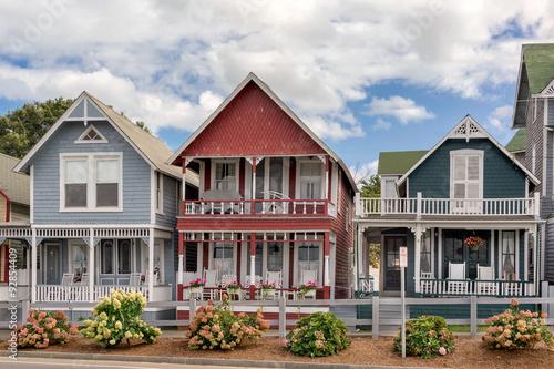 Fotografie, Obraz  Colorful houses in Oak Bluffs on Martha's  Vinyard
