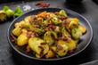 Bratkartoffeln mit Rosenkohl und Bacon