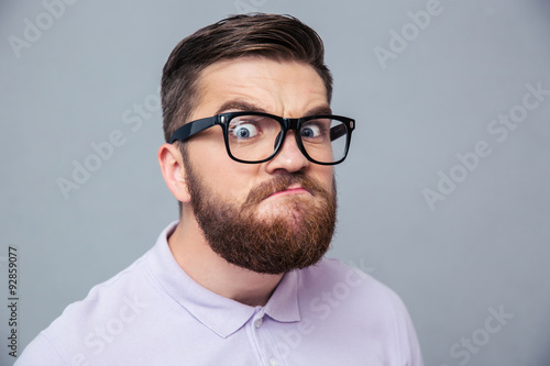 Funny hipster man looking at camera Canvas-taulu