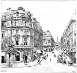 Fototapeta Paryż Vaudeville Theatre, Rue de la Chaussee d'Antin, Holy Trinity, vi