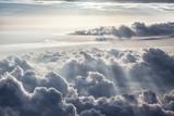Piękne tło błękitnego nieba - 92864226
