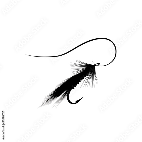 Fly fishing lure Fototapet