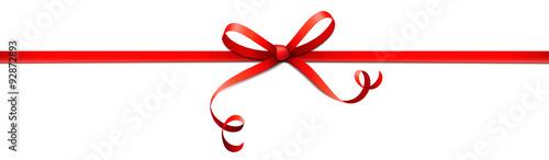 Obraz Rotes Schleifenband (Kringel) - mittig - fototapety do salonu