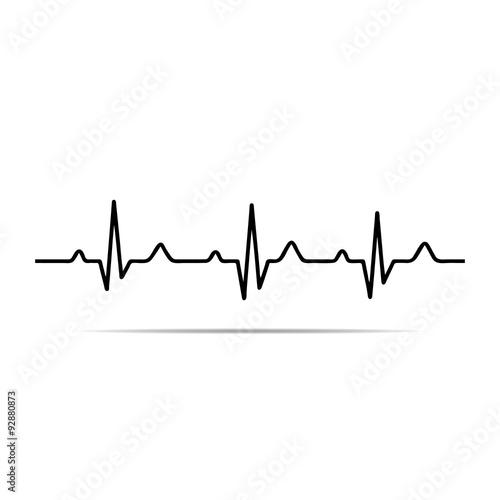 Vector Illustration heart rhythm ekg . Tablou Canvas